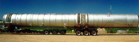 long column on semi trailer